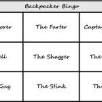 Backpacker Bingo