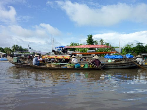 Floating market boats, Can Tho
