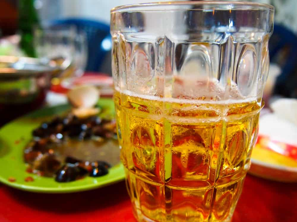 Snails and beer in Saigon