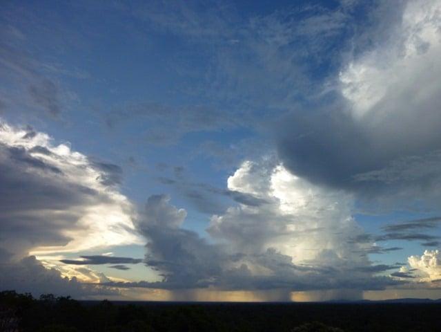 Rainclouds on the horizon at Angkor
