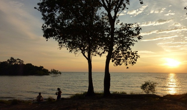 Sunset near Malacca
