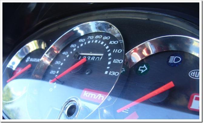 Motorbike dashboard