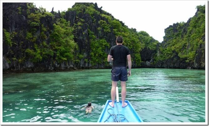 Swimming in Palawan
