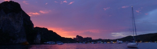 Sunset off Koh Phi Phi