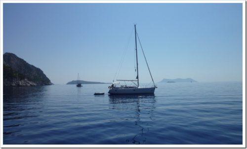 Yacht in the Greek Islands
