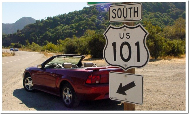 Mustang on Route 101