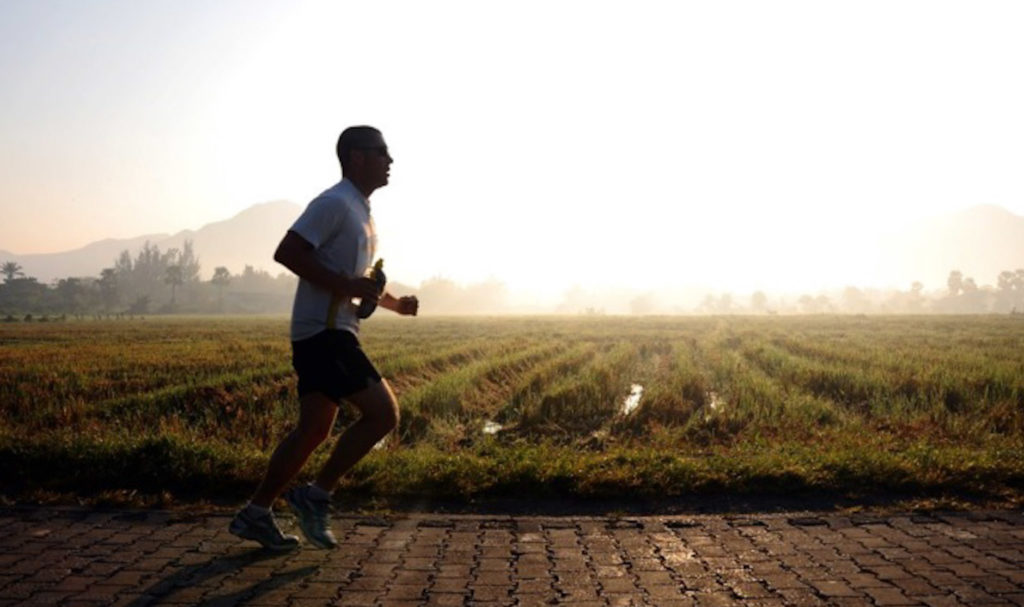 Dave running in Chiang Mai