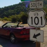 Mustang and 101 sign