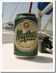 Mythos on yacht