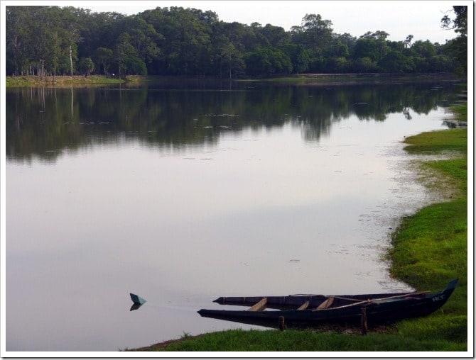 Sunken boat at Angkor Wat