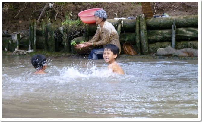 Kids in the Mekong