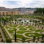 Enjoying the gardens at Versailles