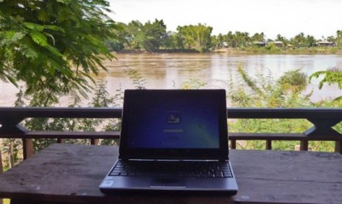 Laptop in Laos