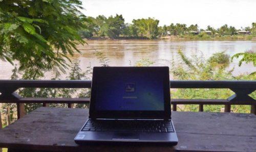 Laptop in Laos