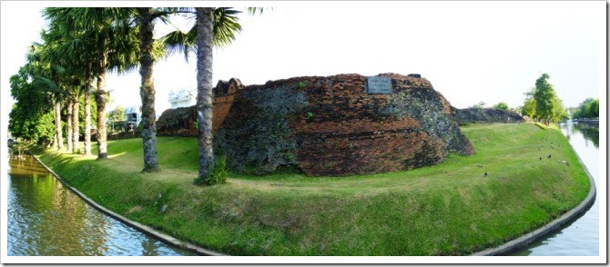 The old city walls of Chiang Mai