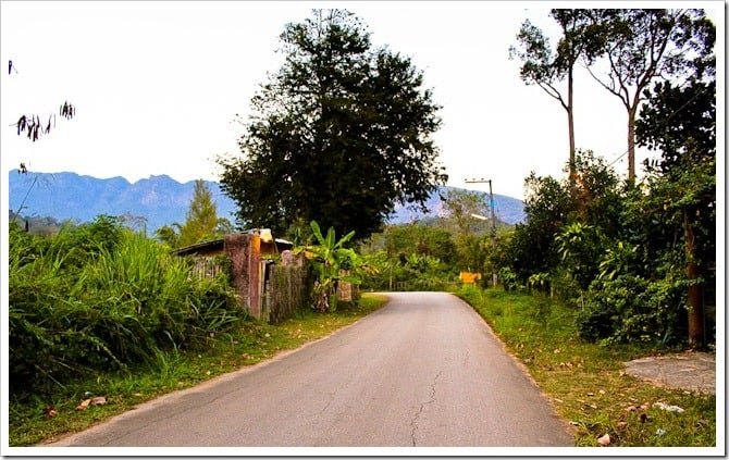 Back country road, northern Thailand