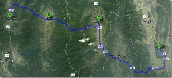 Chiang Dao to Phayao