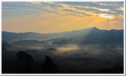 Sunrise at Phu Lang Ka