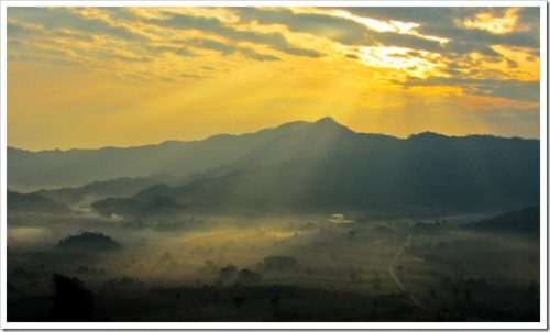 Sunrise in Phu Lang Ka