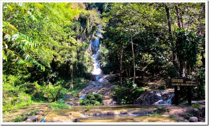 Waterfall on the road to Phayao