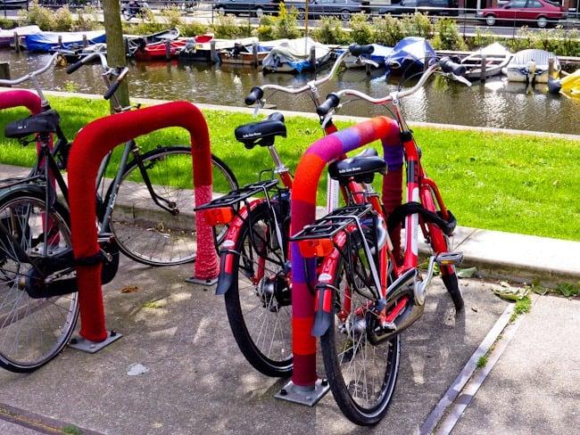 Cosy bikes in Amsterdam