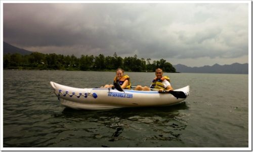 Canoeing on Lake Batur