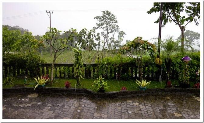 Rainy lakeside view, Mt Batur