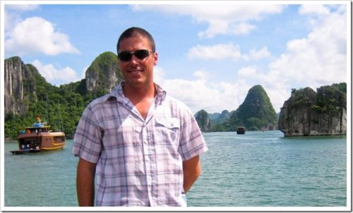 Travel shirt in Halong Bay