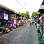 Shopping strip in Bali