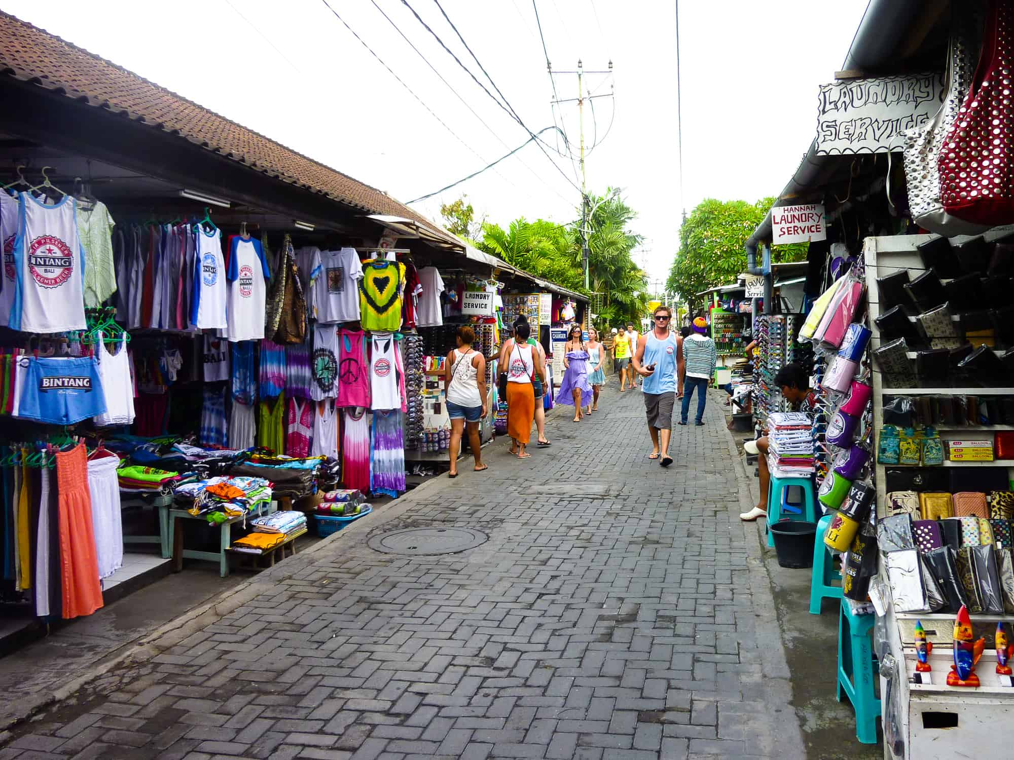 Shopping strip in Bali