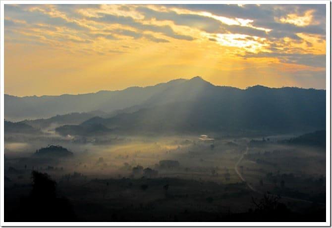 Sunrise at Phu Lang Ka
