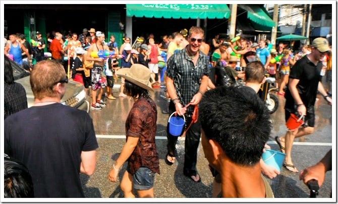 Crowds at Songkran