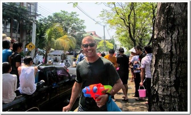 Dave at Songkran