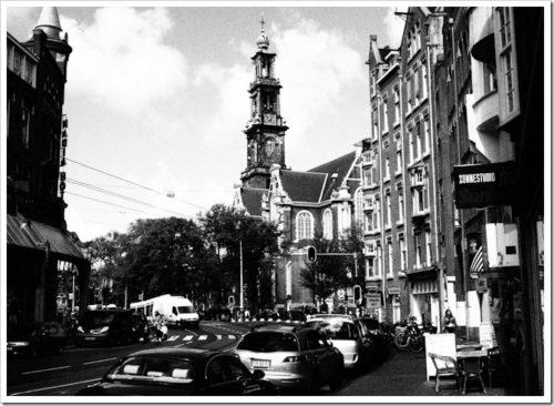 Grainy Amsterdam scene