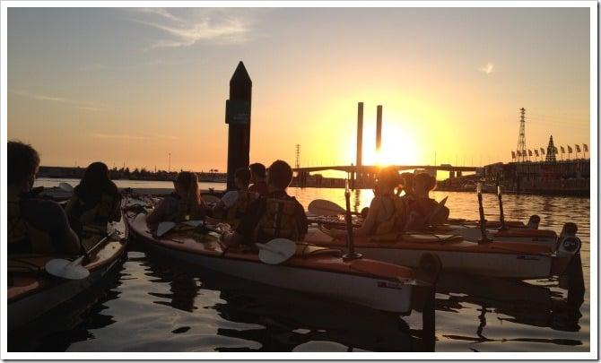 Kayaking Melbourne - dinner