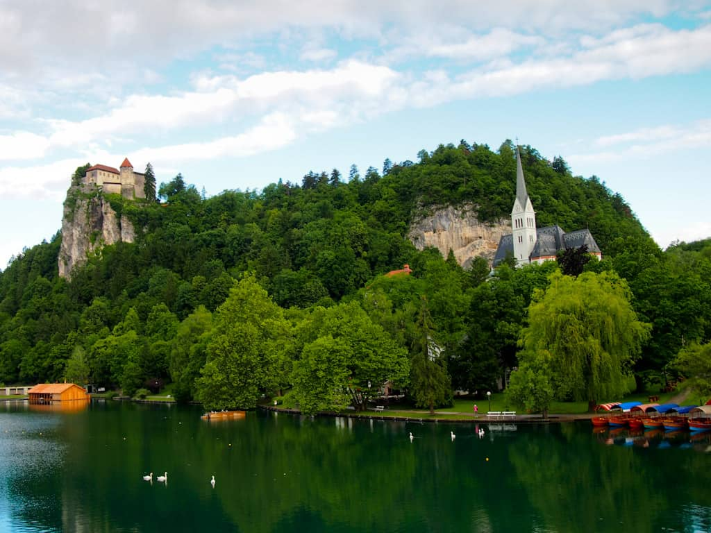 Bled church and castle