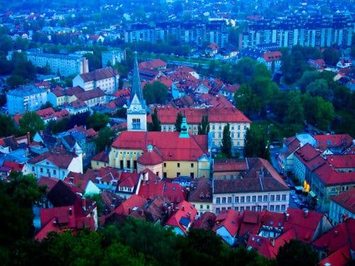 Ljubljana view from the castle