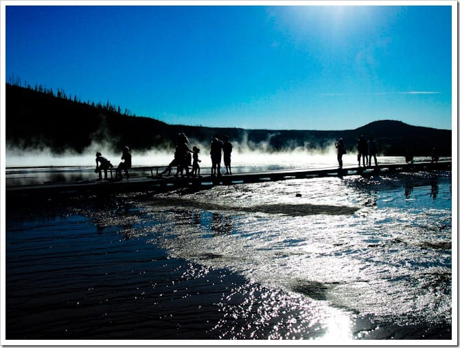 Silhouettes in Yellowstone National Park