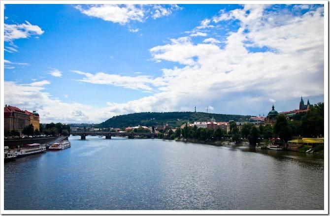 Blue skies in Prague