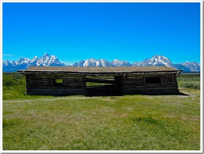 Building and Tetons view