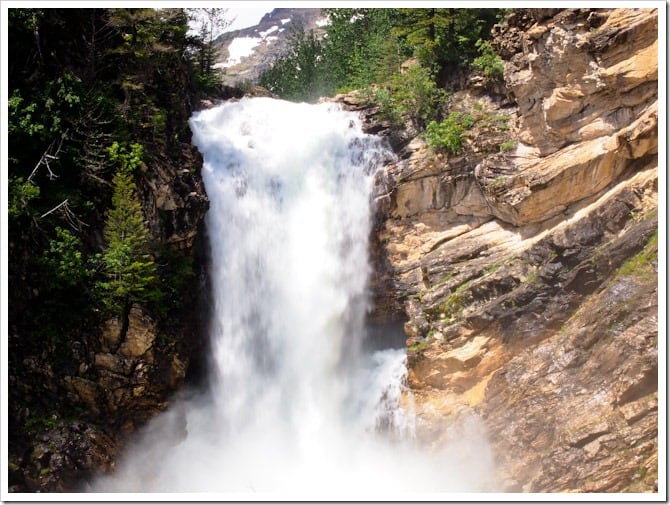 Waterfall closeup, Glacier National Park