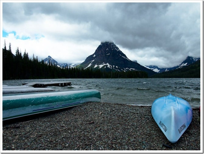 Cloudy canoes, Glacier National Park
