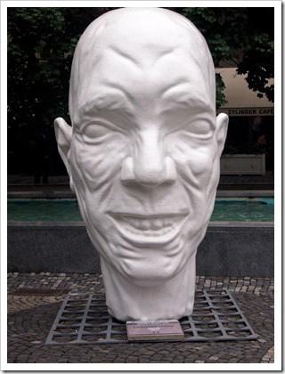 Head sculpture, Bratislava