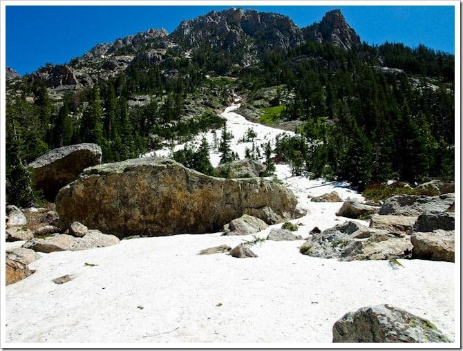 Snow in Cascade Canyon