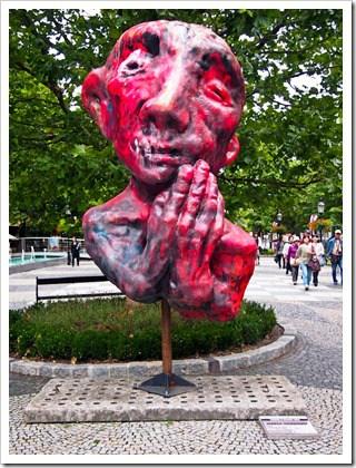 Praying statue, Bratislava