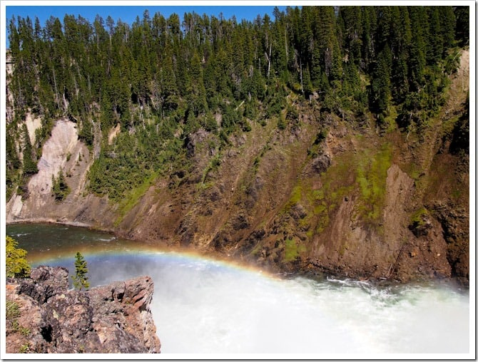 Rainbow in the rapids, Yellowstone