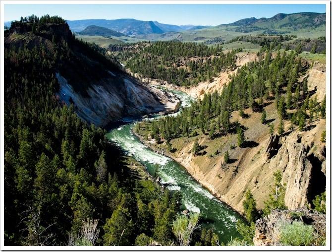River gorge, Yellowstone