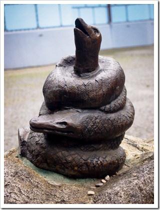 Snake sculpture, Bratislava