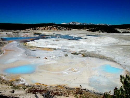 Thermal pools view, Yellowstone
