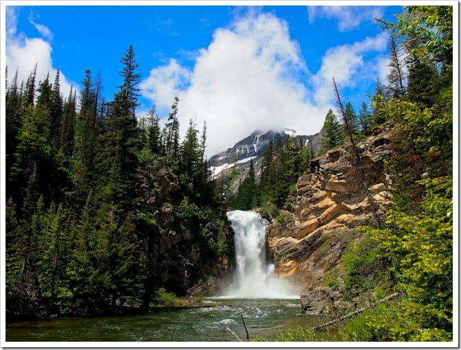 Waterfall in Glacier National Park